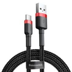 BASEUS Cafule kabel USB / USB-C Quick Charge 3.0 2m, černý/červený