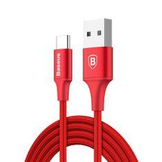 BASEUS Rapid kabel USB / USB Type-C 2m, červený