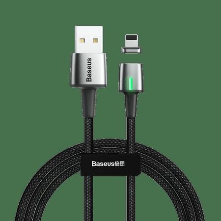 BASEUS Zinc mágneses kábel USB / Lightning 2m, fekete