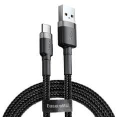 BASEUS Cafule kabel USB / USB-C Quick Charge 3.0 2m, černý/šedý