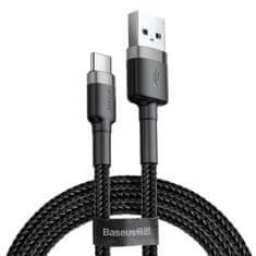 BASEUS Cafule kabel USB / USB-C QC 3.0 2A 3m, černý/šedý