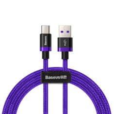 BASEUS Purple Gold Red kabel USB / USB Type-C QC 3.0 1m, fialový