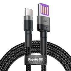 BASEUS Cafule kabel USB / USB-C Quick Charge 1m, šedý/černý