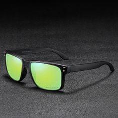 KDEAM Trenton 5 slnečné okuliare, Black / Light Green