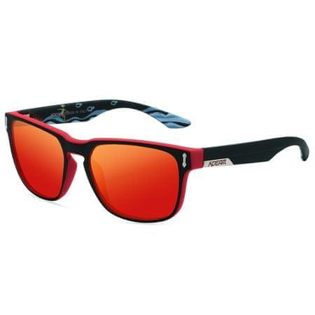 KDEAM Andover 3 sončna očala, Black & Pattern / Red
