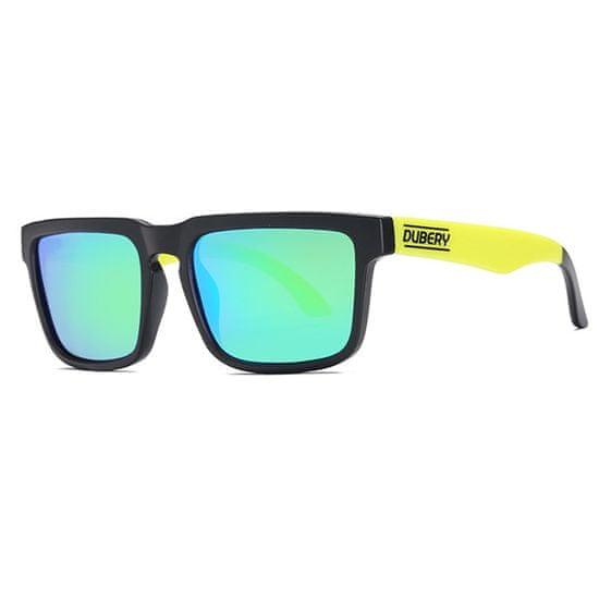 Dubery Greenfield 5 slnečné okuliare, Black & Black / Green