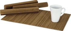 ART Prostírání bambusové, sada 4ks. Barva Světle hnědá. DK5042 Art