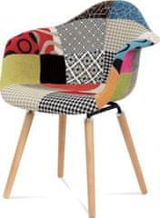 ART Jídelní židle patchwork / masiv buk CT-723 PW2 Art