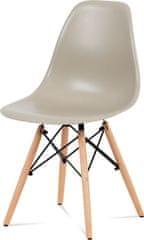 ART Jídelní židle, plast latté / masiv buk / kov černý CT-758 LAT Art