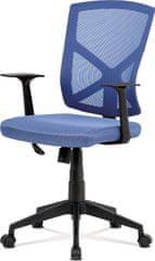 ART Kancelářská židle, modrá MESH+síťovina, plastový kříž, houpací mechanismus KA-H102 BLUE Art