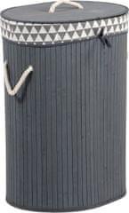 ART Koš prádelní z bambusu, ovál, barva šedá, v papírové krabičce KD4428 Art