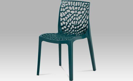 ART Jídelní židle, petrolejová plast CT-820 PET Art