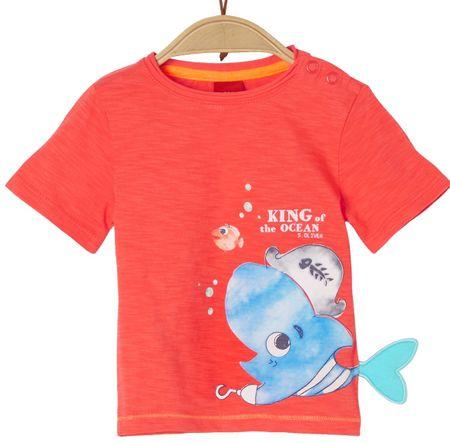 s.Oliver koszulka chłopięca 74 pomarańczowa