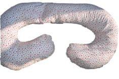 KHC Těhotenský kojící relaxační polštář Zuzanka 260 cm Červené hvězdičky Pratelný potah