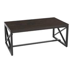 TEMPO KONDELA Konferenčný stolík, orech/čierna, EBAN
