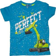 KUGO Modré tričko se zeleným bagrem