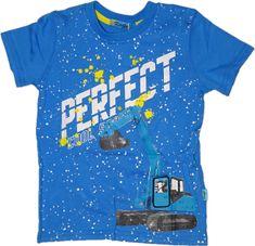 KUGO Modré tričko s modrým bagrem