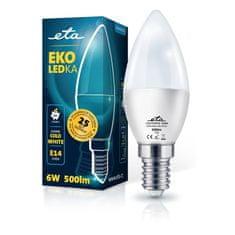 ETA LED žarnica, E14, 6 W, hladno bela