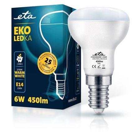 ETA LED žarnica, R50, E14, 6 W, toplo bela