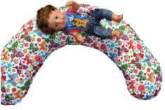 KHC Kojící těhotenský relaxační polštář Miki Obrovský 240 cm Motýlci na bílé Pratelný potah Duté vlákno