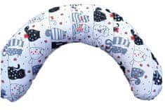 KHC Kojící těhotenský relaxační polštář Miki Obrovský 240 cm Veselé kočičky Pratelný potah Duté vlákno