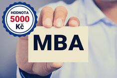 Voucher v hodnotě 5 000 Kč na online MBA studium jen za 2 999 Kč
