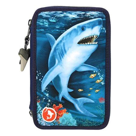 Dino World Ceruzatok 3 emeletes Underwter World felszereléssel, Kék, cápa, könnyű hatás