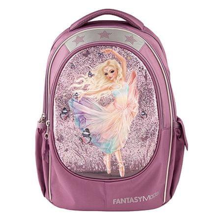 Fantasy Model Plecak szkolny , Wróżka baleriny, jasnoróżowa z brokatem