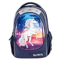 Miss Melody iskolai hátizsák, Kék, a tengerparton naplementekor