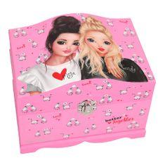 Top Model Ékszerdoboz top modell, Miju + cukorka, rózsaszínű, lemorral