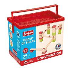Jeujura Drewniany zestaw i kaskada 39 elementów, Wymiary opakowania: 27x22x15 cm Wiek: 4+ Materiał: drewno