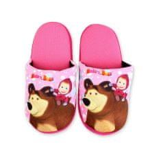 """SETINO Lányos papucs otthon """"Mása és a medve"""" - világos rózsaszín"""