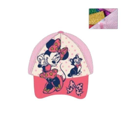 SETINO Detská šiltovka Minnie mouse - ružová - 54 cm
