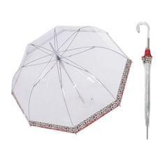 Doppler Transparent Leo dámský průhledný holový deštník Barva: Průhledná