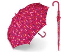 Esprit ESPRIT Letterjam Red dámsky holový dáždnik s farebnými písmenami Farba: Červená