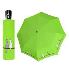 Doppler Magic Fiber CATS Family plně automatický deštník s dvěma koťátky Barva: Červená