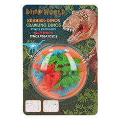 Dino World Plazeči dinozavri Dino Svet, 18 kosov, barva zelena, modra, rdeča