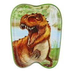 Dino World Plechová krabička ASST, T-Rex, zelená