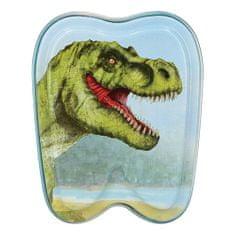 Dino World Plechová krabička ASST, T-Rex, modrá
