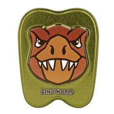 Dino World Konzervdoboz ASST, T-Rex, sötétzöld