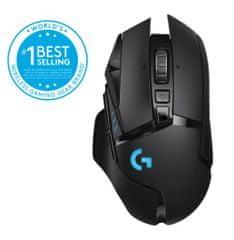 Logitech G502 Lightspeed brezžična miška, črna