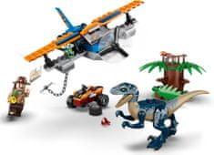 LEGO Jurassic World 75942 Velociraptor: Kétfedelű repülőgépes mentőakció