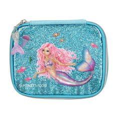 Fantasy Model Kozmetická taška , Tyrkysová, morská panna, s flitrami