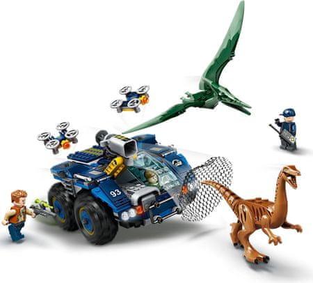 LEGO zestaw Jurassic World 75940 ucieczka Gallimima i Pteranodona
