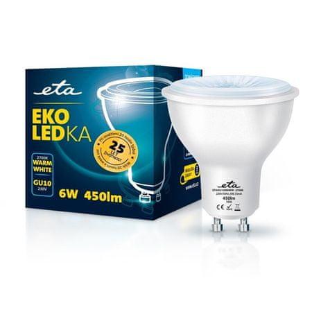 ETA LED žarnica, GU10, 6 W, toplo bela