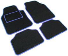 Tech+ avtomobilska preproga Road, tekstil, UNI 1, črna/modra