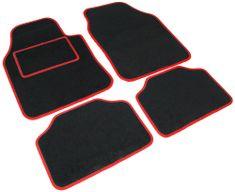 Tech+ avtomobilska preproga Road, tekstil, UNI 1, črna/rdeča