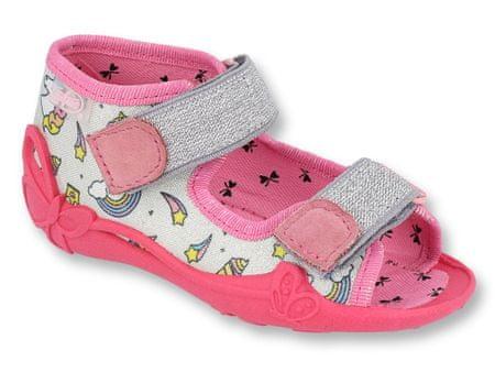 Befado 242P100 Papi sandale za djevojčice, sive, 18