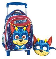 GIM plecak na kółkach Paw Patrol, Chase + maska