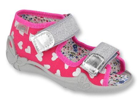 Befado sandale za djevojčice Papi 242P104, 18, ružičaste